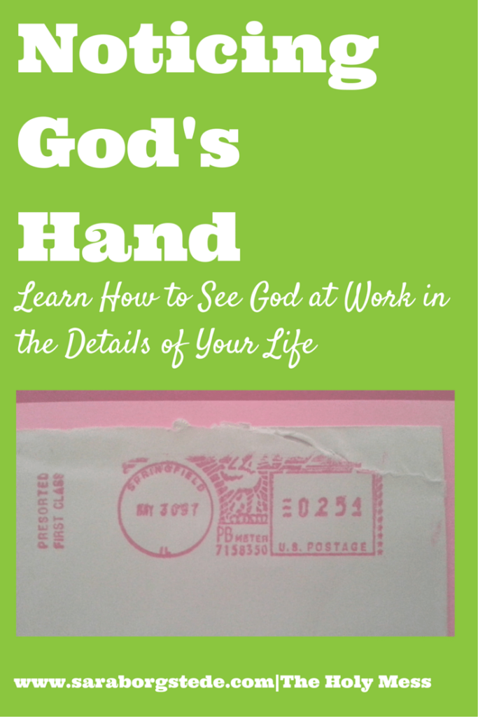 Noticing God's Hand