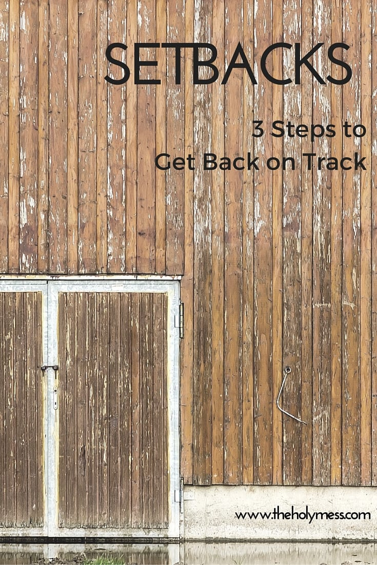Setbacks: 3 Steps to Get Back on Track|The Holy Mess