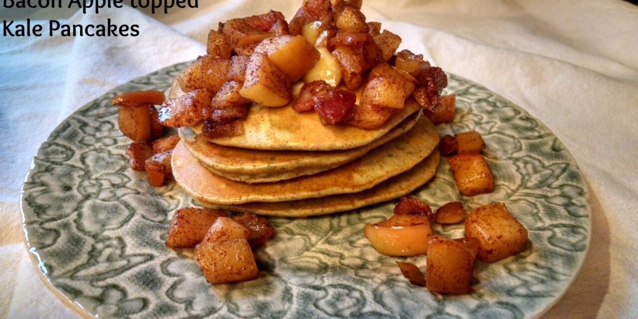 Bacon Apple Kale Pancakes
