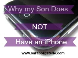 son doesn't have an iphone