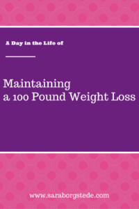 maintaining 100 lb weight loss