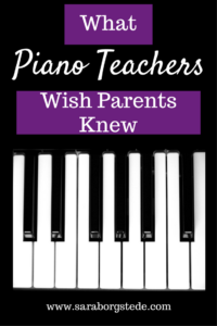 What Piano Teachers Wish Parents Knew
