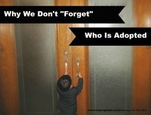 Why We Don't Forget Who Is Adopted