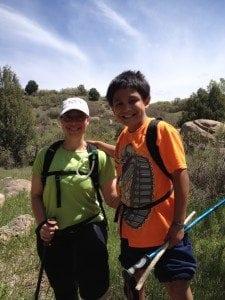 Sara and Paul hiking