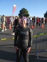 Sara first triathlon swim