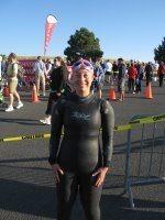 Sara first triathlon swim