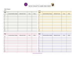 Sick Child record