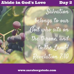Abide in God's Love verse day 2