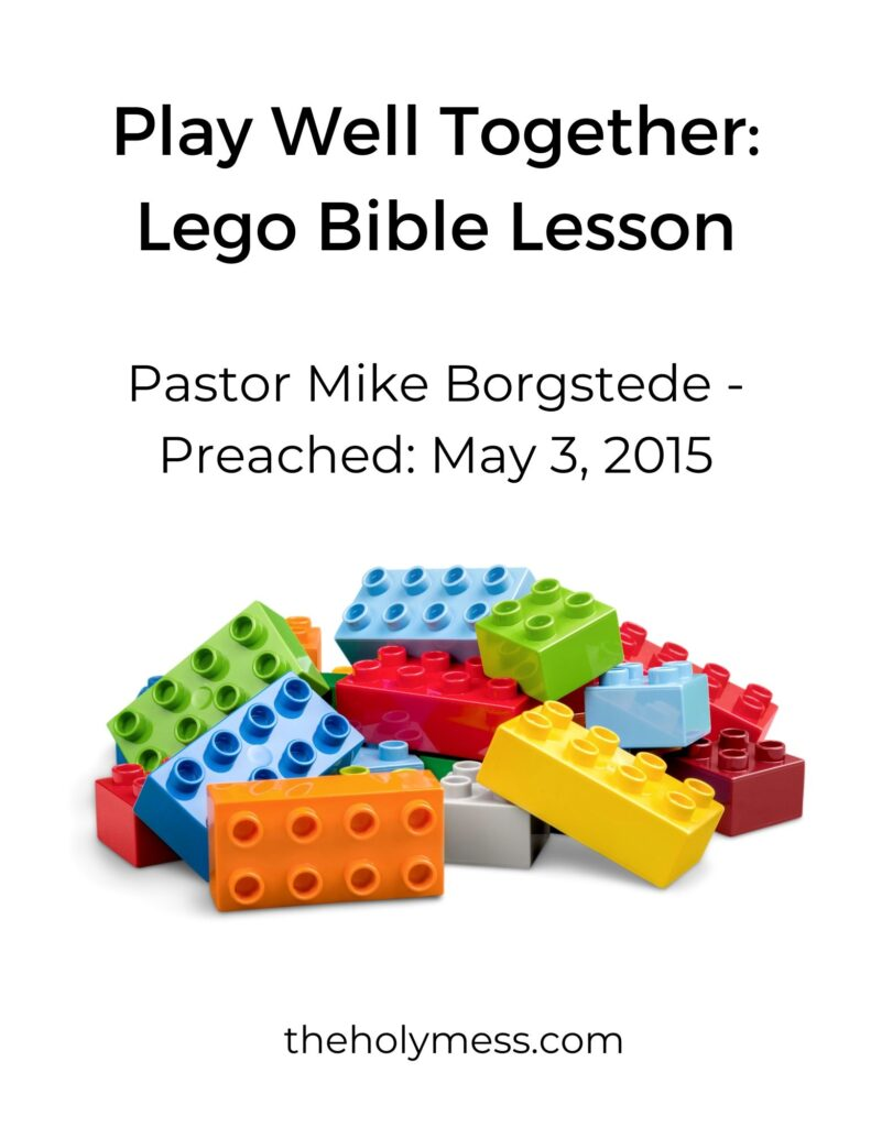 Lego Bible lessons printable