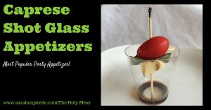Caprese Shot Glass AppetizersFB