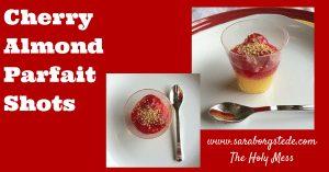 Cherry Almond Parfait Shot