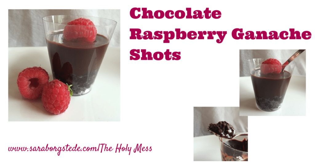 Chocolate Raspberry Ganache Shots