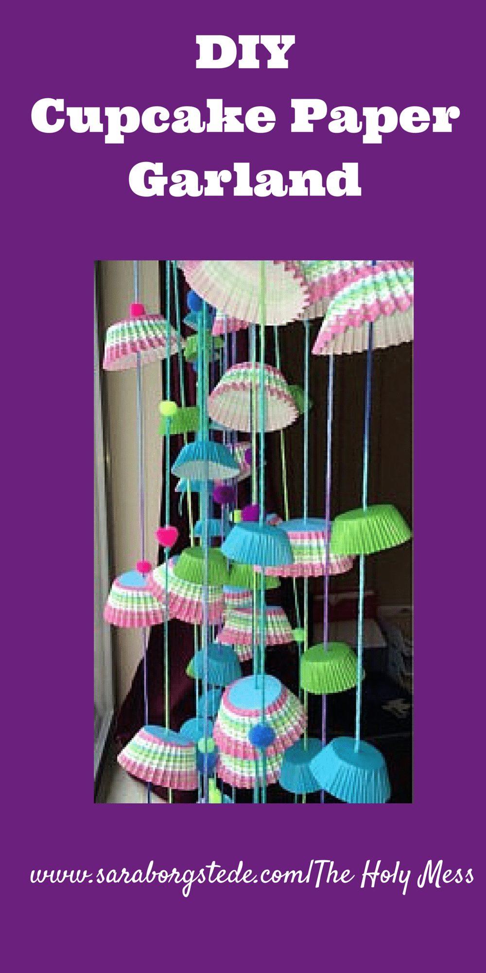 DIY Cupcake Garland