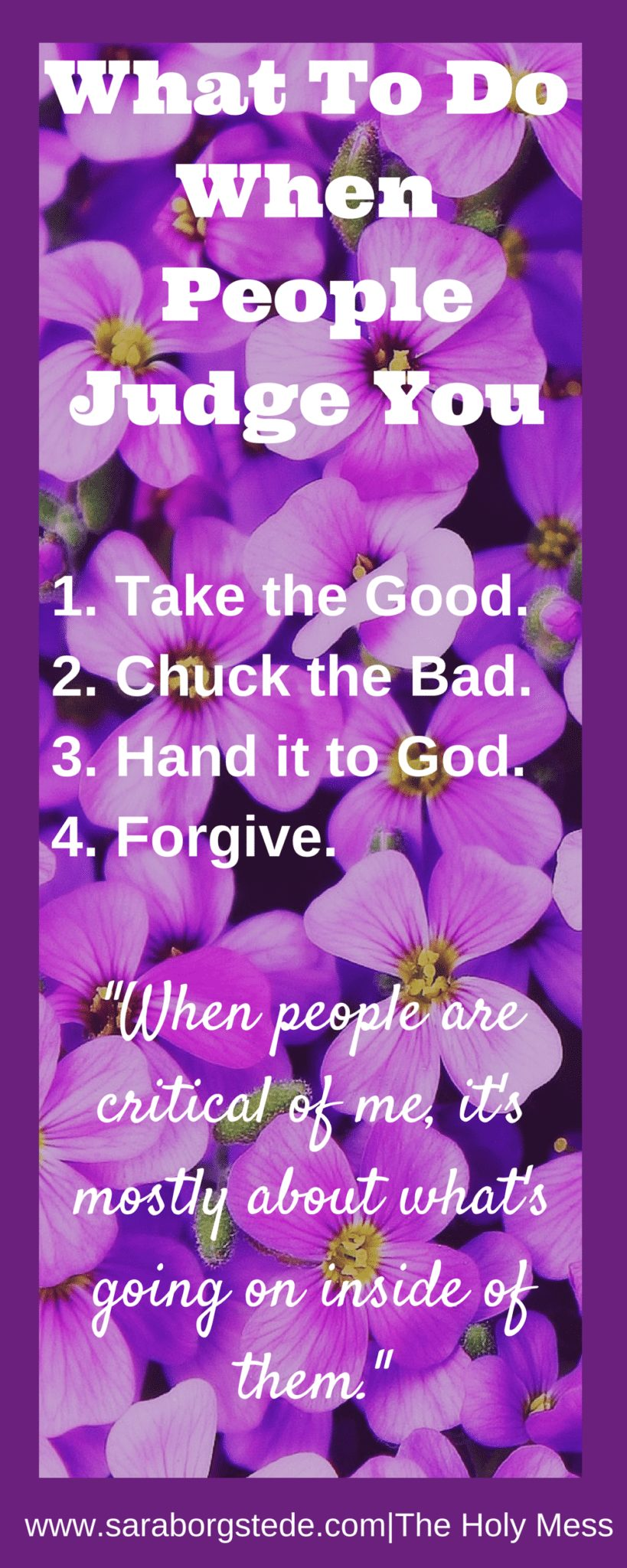 What To Do WhenPeople Judge You