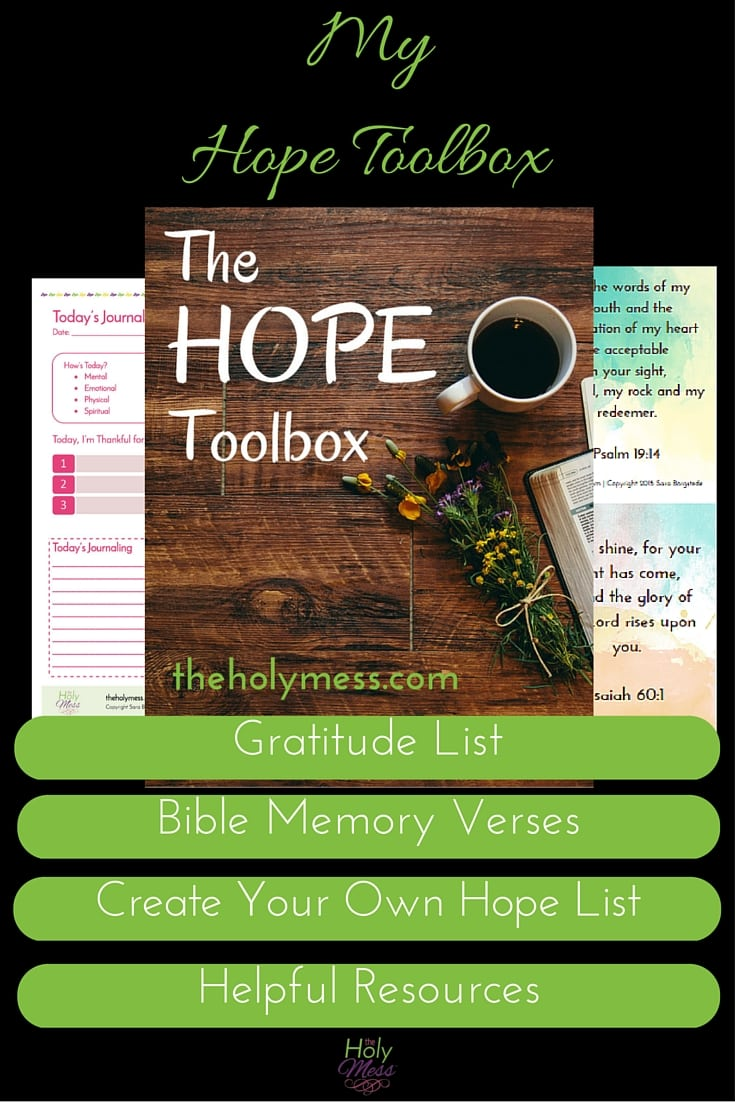 My Hope Toolbox Printable Kit for Depression & Sadness