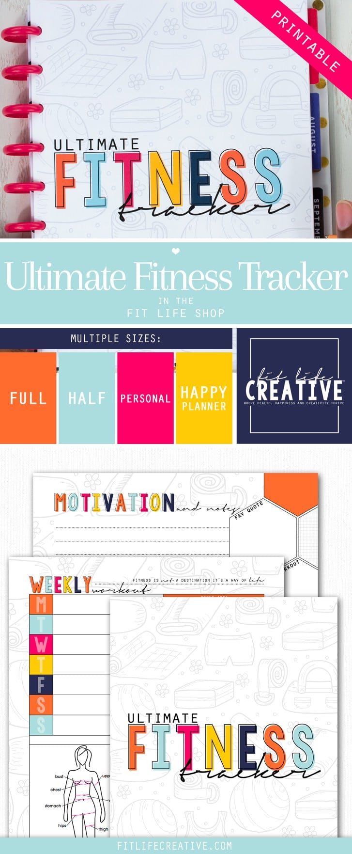 Ultimate Fitness Tracker|Fit Life Creative|The Holy Mess