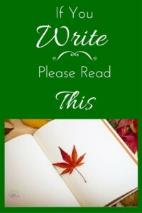 If You Write, Please Read This