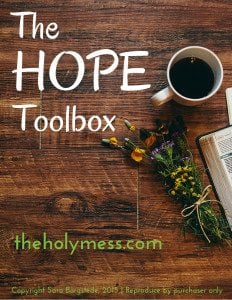 The hope toolbox - cover of kit