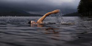 Overcoming triathlon swim panic