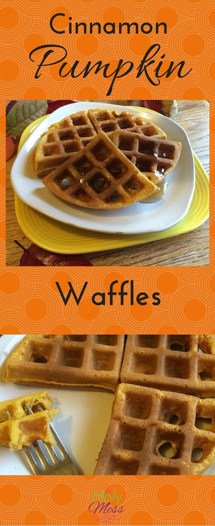 Cinnamon Pumpkin Waffles are perfect for Fall