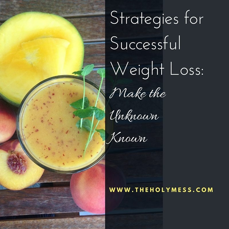 Weight Loss Strategies: Make the Unknown Known
