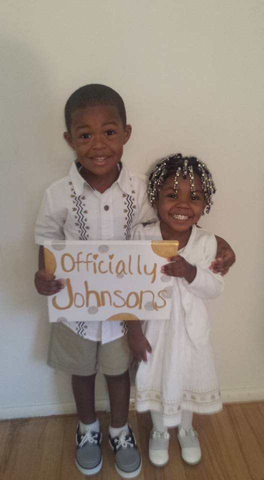 Johnsons on adoption day