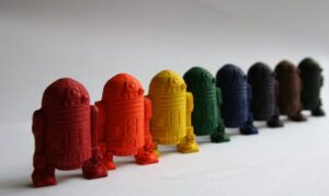 R2D2 crayons from Etsy
