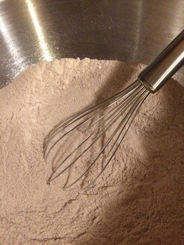 Hot Chocolate pancakes dry ingredients