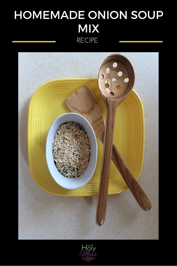 Homemade Onion Soup Mix Recipe|The Holy Mess