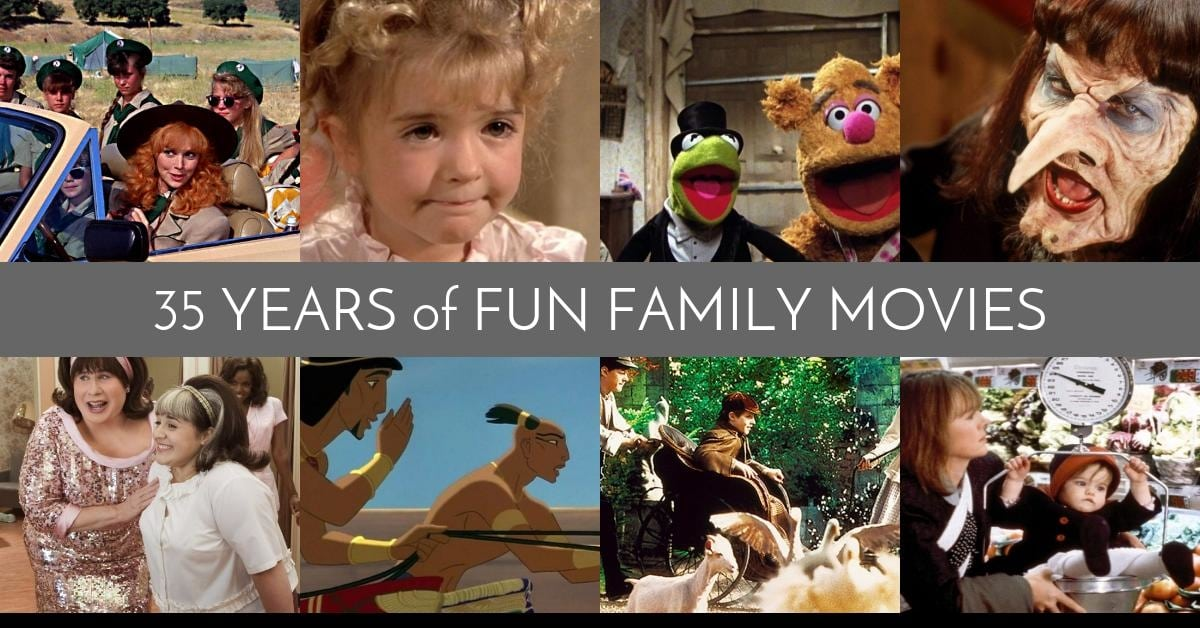 35 Years of Fun Family Movies 1990-1999