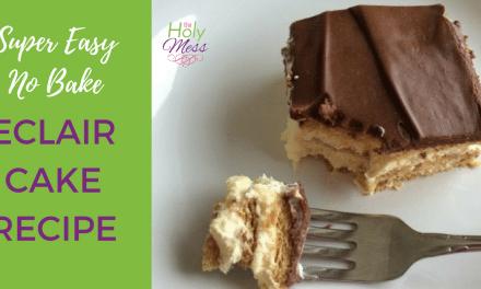 Super Easy No Bake Eclair Cake