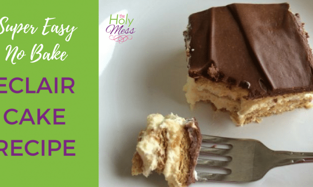 Super Easy No Bake Eclair Cake