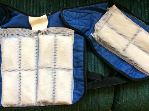 Zack's cooling vest for GA1, with packs added.