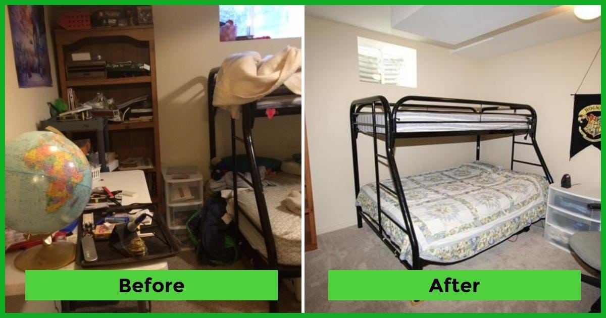 Josiah room before after The Holy Mess