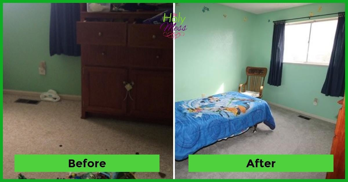 Zack room before after|The Holy Mess