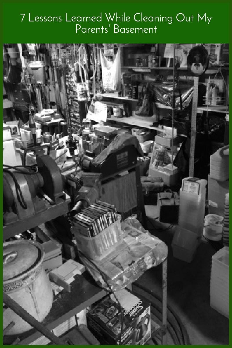 7 Lessons Learned While Cleaning Out My Parents' Basement|The Holy Mess