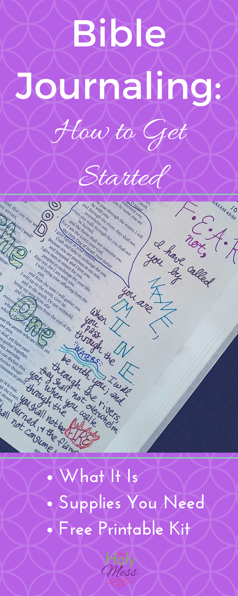 Enjoy this step by step Bible journaling for beginners guide. The best Bible journaling tips, Bible journaling printables, and more.