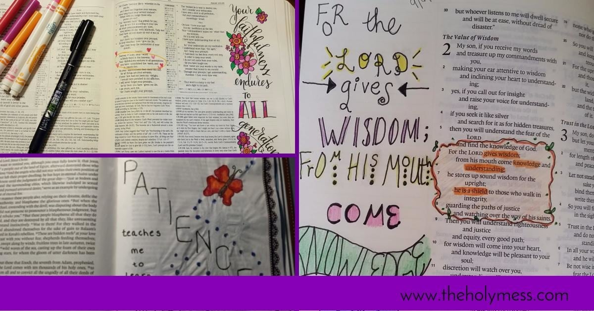 Bible Journaling: More Creative Ideas
