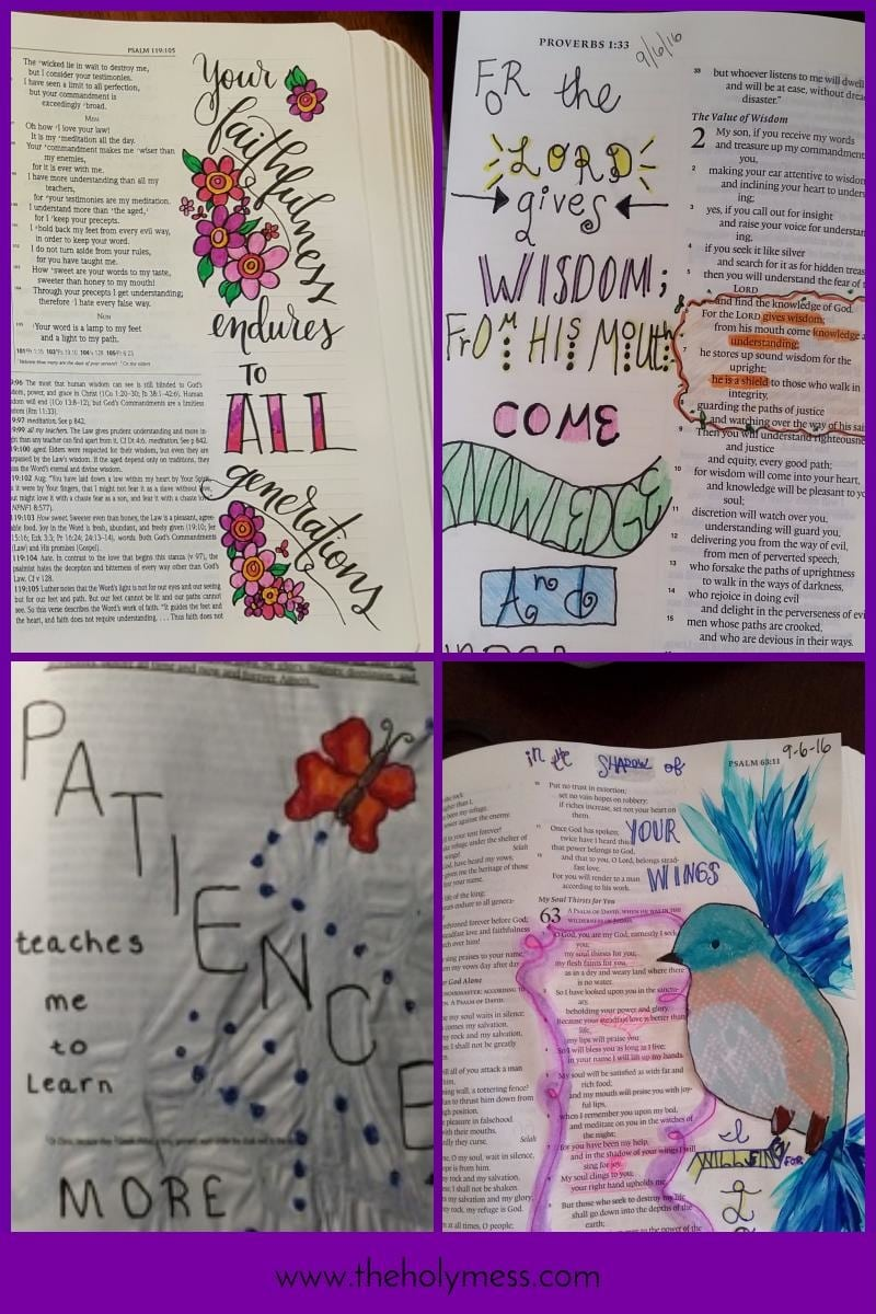 Bible Journaling: More Creative Ideas|The Holy Mess