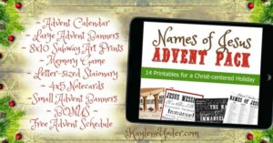 Names of Jesus Advent Pack