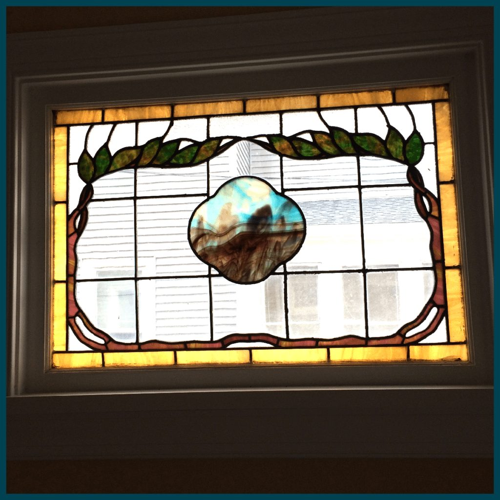 New House Stained Glass Window