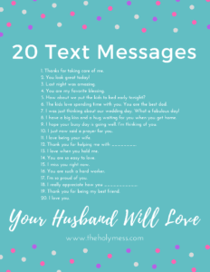 20 Text Messages Your Husband Will Love|The Holy Mess