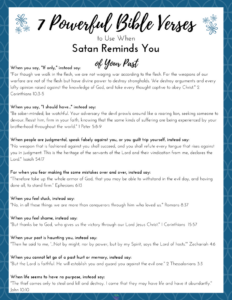 7 Powerful Bible Verses to Use When Satan Reminds You of Your Past|The Holy Mess