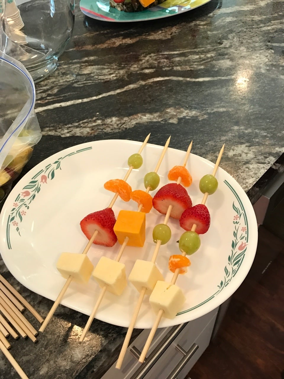 Fruit and Cheese kebobs