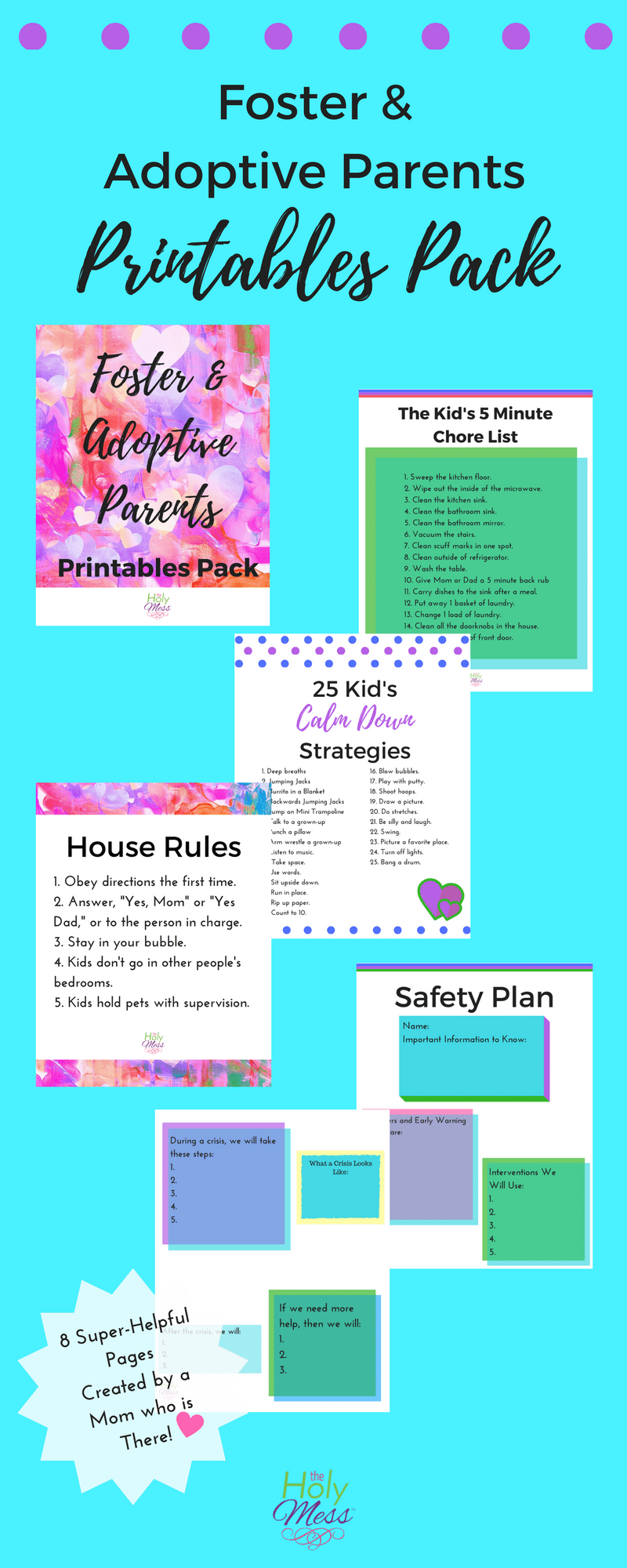 Foster and Adoptive Parents Printables Pack|The Holy Mess