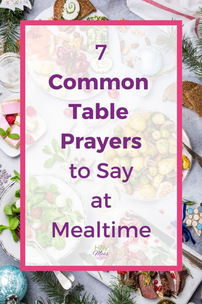 Common Table Prayers - Table with food on it