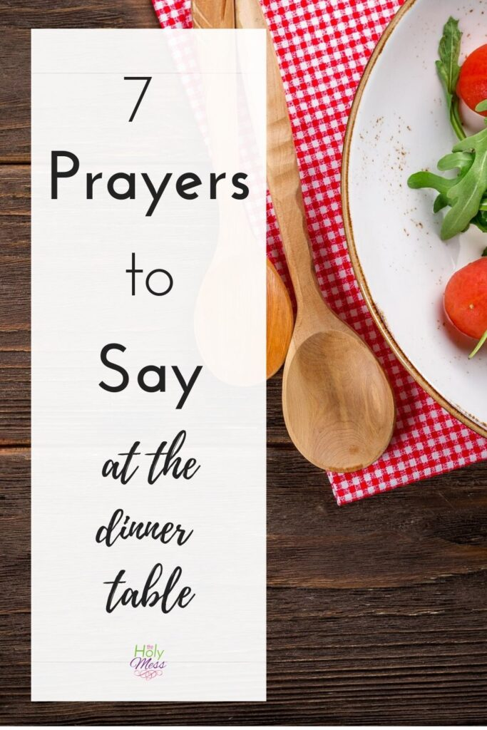 Common Table Prayers for Meal - Table with Salad