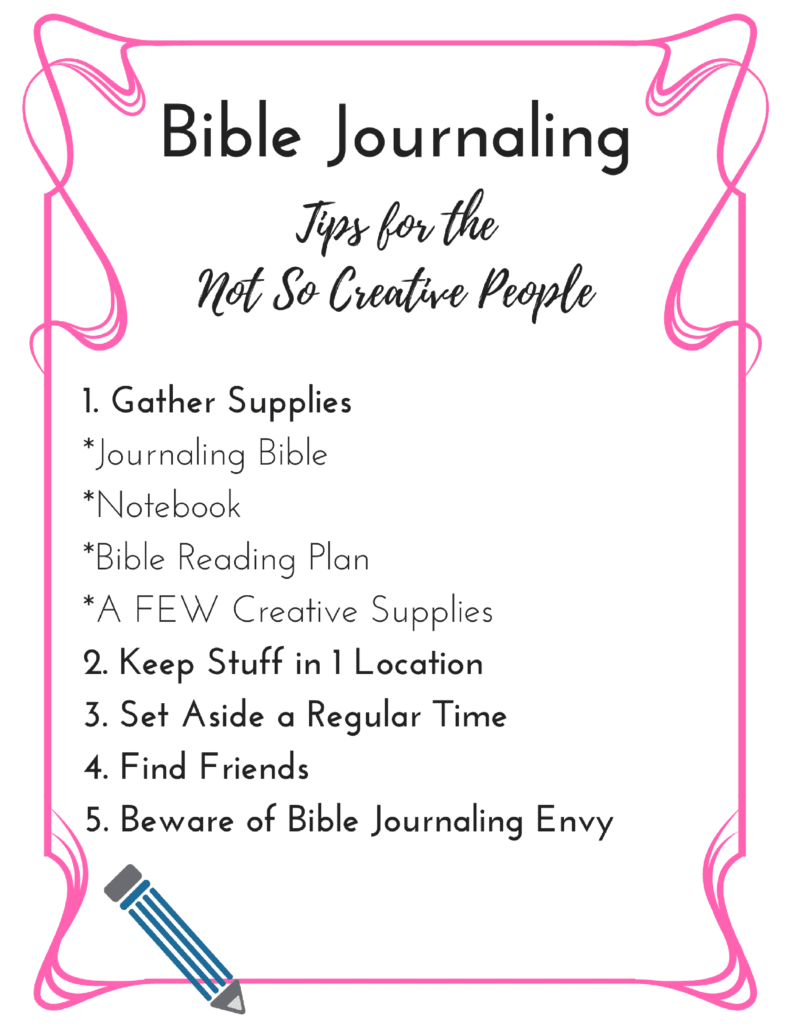 Bible Journaling: Tips for Not So Creative People|The Holy Mess