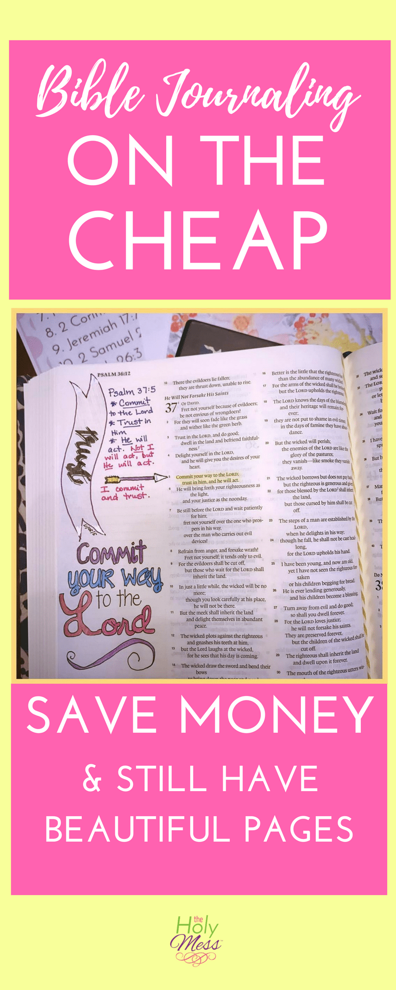 Bible Journaling on the Cheap|The Holy Mess