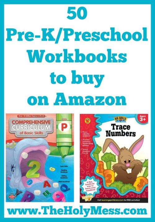 50 Educational Pre-K and Preschool Workbooks